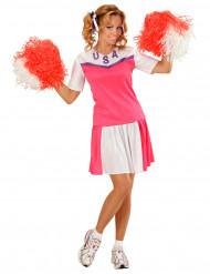 Vaaleanpunainen cheerleaderasu aikuisille