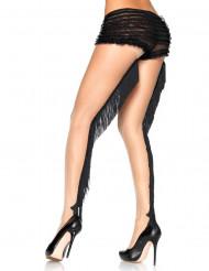 Sukkahousut mustilla hapsuilla naiselle