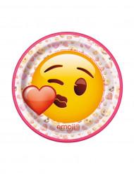 Emoji™ -paperilautaset 17,5cm 8 kpl