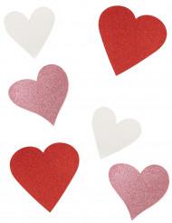 6 pahvista sydänkoristetta