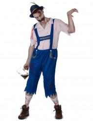 Sininen baijerilaiszombie - aikuisten naamiaisasu