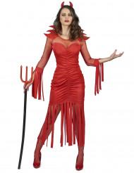 Punainen piruasu hapsuilla naisille