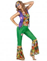 Flower Power hippi -naamiaisasu aikuisille