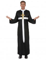 Aikuisten Papin asu valkoisella ristillä