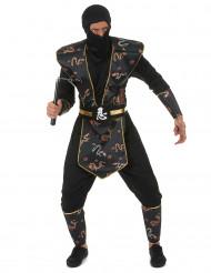 Lohikäärmen sotilas - Ninja naamiaisasu aikuisille