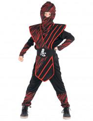 Mustapunainen ninja naamiaisasu pojalle