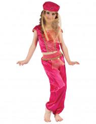 Pinkki itämaisen tanssijan asu lapsille