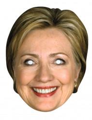Pahvinen Hillary Clinton-naamari