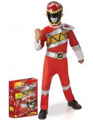 Dino Charge Punaisen Rangerin™ naamiaisasu lapselle lahjapaketissa - luksus