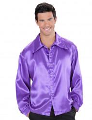 Violetti satiinipaita miehelle