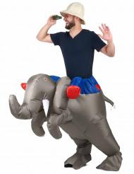 Aikuisten puhallettava elefanttipuku