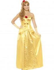 Keltainen unelmaprinsessa-puku naiselle