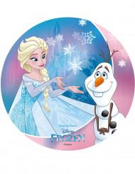Kakkukuva Elsa ja Olof Frozen™ sadusta - 20 cm