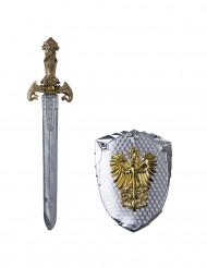 Feenikslintu- miekka ja kilpi