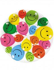 Smiley paperilautaset 6 kpl