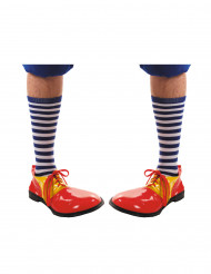 Sinivalkoraidalliset sukat aikuiselle