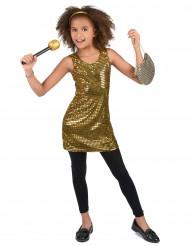 Kultainen disco paljettimekko lapsille