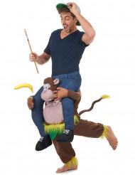 Mies apinan selässä - puku aikuisille