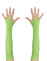 Neonvihreät pitkät käsineet