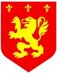 Keskiaikainen punainen leijona vaakuna 30 cm