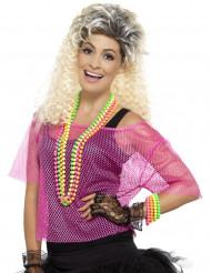 80-luvun pinkki verkkopaita naiselle