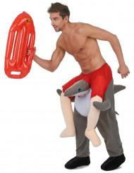 Mies hain selässä carry me -asu aikuisille