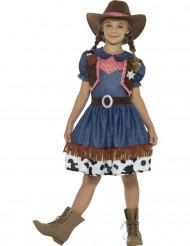 Texasilaisen cowgirlin naamiaisasu tytölle