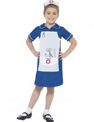 Sairaanhoitajan sininen naamiaisasu tytölle