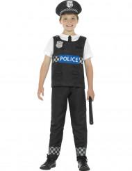 Mustavalkoinen poliisin naamiaisasu pojalle