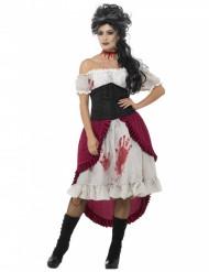 Merirosvokummituksen verinen naamiaisasu naiselle halloween