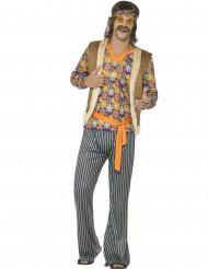 60-luvun hippilaulajan naamiaisasu miehelle