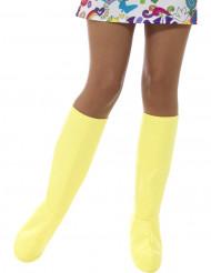 Keltaiset kengänpäälliset naiselle