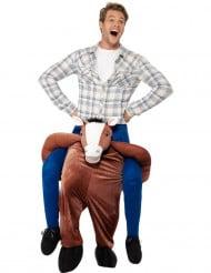 Carry Me Hevonen-naamiaisasu aikuisille