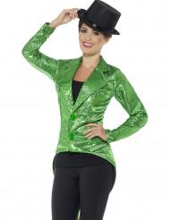 Vihreä paljettifrakki naiselle