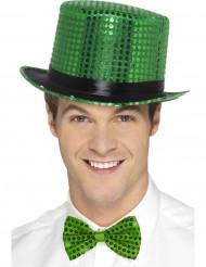Vihreä hattu paljeteilla