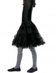 vihreä ja violetti raidalliset sukkahousut lapselle