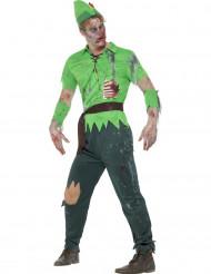 Metsien zombie - aikuisten halloween asu