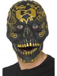 Aikuisen hallowen-kallo naamari