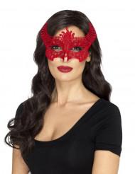 Punainen pitsisilmikko naiselle halloween