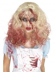 Blondi verinen peruukki naiselle halloween