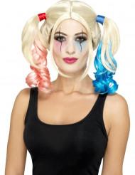 Hullun harlekiinin blondi saparoperuukki naiselle