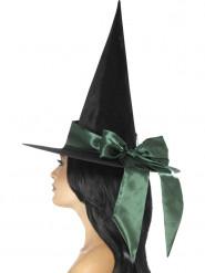 Musta hattu vihreällä rusetilla halloween