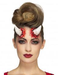 Lateksiset paholaisen sarvet aikuiselle halloween