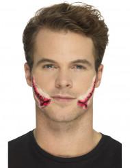 Lateksinen ommeltu suu- proteesi aikuiselle halloween