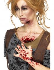 Punainen verinen rupi naiselle halloween