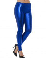 Metallisen siniset legginsit aikuiselle