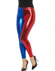 Metalliset kaksiväriset sinipunaiset legginsit