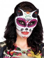 Värikäs Dia de los muertos- kissasilmikkö naiselle