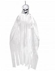 Valkoinen riippukoriste halloween- luuranko 150 cm