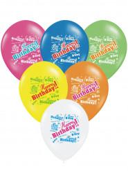 Värikkäät synttäri-ilmapallot 6kpl